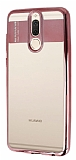 Eiroo Clear Thin Huawei Mate 10 Lite Rose Gold Kenarlı Şeffaf Silikon Kılıf