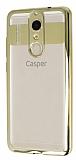 Eiroo Clear Thin Casper Via G1 Plus Gold Kenarlı Şeffaf Silikon Kılıf