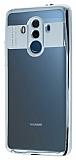 Eiroo Clear Thin Huawei Mate 10 Pro Silver Kenarlı Şeffaf Silikon Kılıf