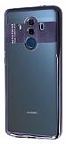 Eiroo Clear Thin Huawei Mate 10 Pro Siyah Kenarlı Şeffaf Silikon Kılıf