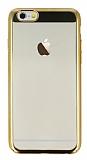 Eiroo Clear Thin iPhone 6 / 6S Gold Kenarlı Şeffaf Rubber Kılıf