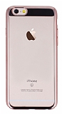 Eiroo Clear Thin iPhone 6 / 6S Rose Gold Kenarlı Şeffaf Rubber Kılıf