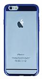 Eiroo Clear Thin iPhone 6 / 6S Lacivert Kenarlı Şeffaf Rubber Kılıf