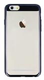 Eiroo Clear Thin iPhone 6 Plus / 6S Plus Siyah Kenarlı Şeffaf Rubber Kılıf