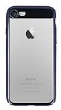 Eiroo Clear Thin iPhone 7 / 8 Siyah Kenarlı Şeffaf Rubber Kılıf
