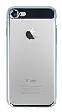 Eiroo Clear Thin iPhone 7 / 8 Silver Kenarlı Şeffaf Rubber Kılıf