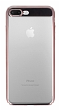 Eiroo Clear Thin iPhone 7 Plus / 8 Plus Rose Gold Kenarlı Şeffaf Rubber Kılıf