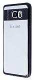 Eiroo Clear Thin Samsung Galaxy Note 5 Siyah Kenarlı Şeffaf Silikon Kılıf