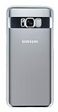 Eiroo Clear Thin Samsung Galaxy Note S8 Plus Silver Kenarlı Şeffaf Rubber Kılıf