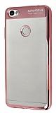 Eiroo Clear Thin Xiaomi Redmi Note 5A / 5A Prime Rose Gold Kenarlı Şeffaf Silikon Kılıf