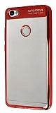Eiroo Clear Thin Xiaomi Redmi Note 5A / 5A Prime Kırmızı Kenarlı Şeffaf Silikon Kılıf