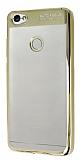 Eiroo Clear Thin Xiaomi Redmi Note 5A / 5A Prime Gold Kenarlı Şeffaf Silikon Kılıf