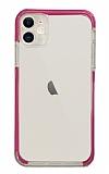 Eiroo Color Fit iPhone 11 Kamera Korumalı Pembe Silikon Kılıf
