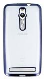 Asus ZenFone 2 Dark Silver Kenarlı Şeffaf Silikon Kılıf