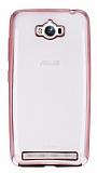 Eiroo Color Fit Asus ZenFone Max Pembe Kenarl� �effaf Silikon K�l�f