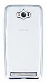Eiroo Color Fit Asus ZenFone Max Silver Kenarl� �effaf Silikon K�l�f