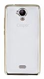 Casper Via E1 Gold Kenarlı Şeffaf Silikon Kılıf