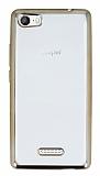 Casper Via M1 Gold Kenarlı Şeffaf Silikon Kılıf