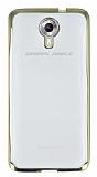 General Mobile Android One / General Mobile GM 5 Gold Kenarlı Şeffaf Silikon Kılıf