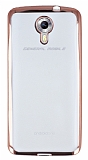 General Mobile Android One Rose Gold Kenarlı Şeffaf Silikon Kılıf