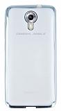 General Mobile Android One Silver Kenarlı Şeffaf Silikon Kılıf