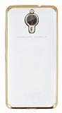 General Mobile GM 5 Plus Gold Kenarlı Şeffaf Silikon Kılıf
