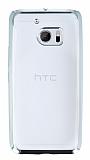 HTC 10 Silver Kenarlı Şeffaf Silikon Kılıf