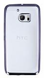 HTC 10 Siyah Kenarlı Şeffaf Silikon Kılıf