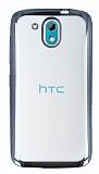 HTC Desire 526 Dark Silver Kenarlı Şeffaf Silikon Kılıf