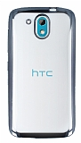 Eiroo Color Fit HTC Desire 526 Dark Silver Kenarl� �effaf Silikon K�l�f