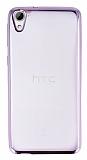 HTC Desire 826 Rose Gold Kenarlı Şeffaf Silikon Kılıf