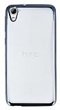 HTC Desire 826 Siyah Kenarlı Şeffaf Silikon Kılıf