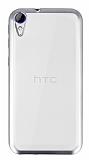 HTC Desire 830 Silver Kenarlı Şeffaf Silikon Kılıf