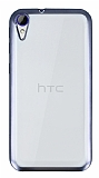 HTC Desire 830 Siyah Kenarlı Şeffaf Silikon Kılıf