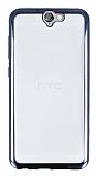 HTC One A9 Siyah Kenarlı Şeffaf Silikon Kılıf