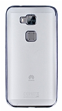 Eiroo Color Fit Huawei G8 Siyah Kenarl� �effaf Silikon K�l�f
