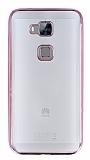 Eiroo Color Fit Huawei G8 Rose Gold Kenarl� �effaf Silikon K�l�f