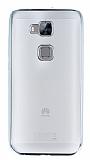Eiroo Color Fit Huawei G8 Silver Kenarl� �effaf Silikon K�l�f