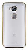Eiroo Color Fit Huawei G8 Gold Kenarl� �effaf Silikon K�l�f