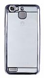 Eiroo Color Fit Huawei GR3 Siyah Kenarlı Şeffaf Silikon Kılıf