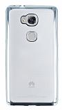 Eiroo Color Fit Huawei GR5 Silver Kenarlı Şeffaf Silikon Kılıf