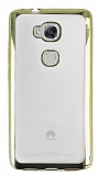 Eiroo Color Fit Huawei GR5 Gold Kenarlı Şeffaf Silikon Kılıf