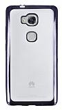 Eiroo Color Fit Huawei GR5 Siyah Kenarlı Şeffaf Silikon Kılıf