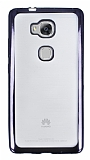 Huawei GR5 Siyah Kenarlı Şeffaf Silikon Kılıf