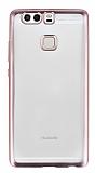 Eiroo Color Fit Huawei P9 Rose Gold Kenarl� �effaf Silikon K�l�f