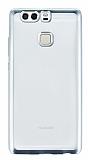 Huawei P9 Silver Kenarlı Şeffaf Silikon Kılıf