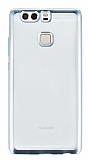 Eiroo Color Fit Huawei P9 Silver Kenarl� �effaf Silikon K�l�f