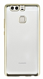 Eiroo Color Fit Huawei P9 Gold Kenarl� �effaf Silikon K�l�f