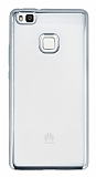 Huawei P9 Lite Silver Kenarlı Şeffaf Silikon Kılıf