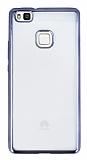 Huawei P9 Lite Dark Silver Kenarlı Şeffaf Silikon Kılıf